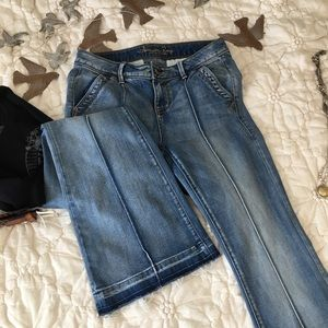 American rag jeans frayed hem Size 7